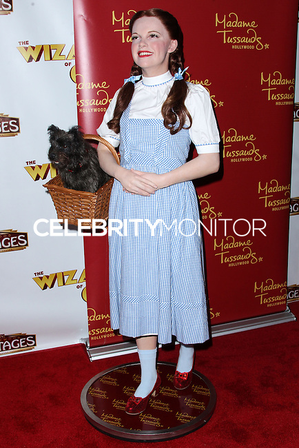 """HOLLYWOOD, CA - SEPTEMBER 18: A wax figure of actress Judy Garland as Dorothy from the 'The Wizard of Oz' film at """"The Wizard Of Oz"""" Opening Night held at the Pantages Theatre on September 18, 2013 in Hollywood, California. (Photo by Xavier Collin/Celebrity Monitor)"""