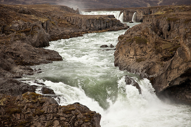 Godafoss waterfall (Waterfall of the Gods) is located close to the Ring Road