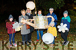 Members of Listowel tidy towns joining in the fun at this years lantern parade in Listowel on Saturday. L-r Ava Heffernan, Julie Gleeson, Joan Kennelly, Mary Hanlon, Daisy Foley and Darragh and Kieran Fealey.