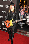 HOLLYWOOD, CA. - October 21: Orianthi arrives at the Hard Rock Cafe - Hollywood - Grand Opening on October 21, 2010 in Hollywood, California.