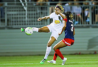 Boyds, MD - Saturday Sept. 03, 2016: Lynn Williams, Caprice Dydasco during a regular season National Women's Soccer League (NWSL) match between the Washington Spirit and the Western New York Flash at Maureen Hendricks Field, Maryland SoccerPlex.