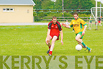 Donal Leahy (Tarbert) in action with Eoin Lawlor (Gneeveguilla)in the County Senior League at Tarbert GAA Grounds on Sunday.