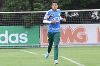 SAO PAULO, 29 DE MARCO DE 2013 - TREINO PALMEIRAS - O jogador Leandro durante treino do Palmeiras, no CT da Barra Funda, região oeste da capital, na manha desta sexta feira, 29. (FOTO: ALEXANDRE MOREIRA / BRAZIL PHOTO PRESS)