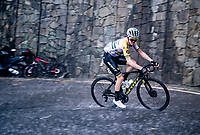 Cameron Meyer (AUS/Mitchelton-Scott) racing in torrential rains up Il Piccolo Stelvio at <br /> Grande Trittico Lombardo 2020 (1.Pro/ITA)<br /> 1 day race from Legnano to Varese (200km)