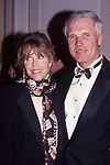 Jane Fonda and Ted Turner attend the ATAS Academy of Television Arts and Sciences Hall of Fame Awards on September 1, 1996 at Walt Disney Worls in Orlando, Florida.