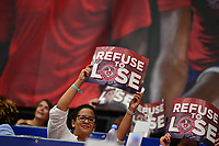 Washington, DC - July 25, 2018: Washington Kastles' fans hold signs supporting their team before match play between the Kastles and the San Diego Aviators July 25, 2018.  (Photo by Don Baxter/Media Images International)