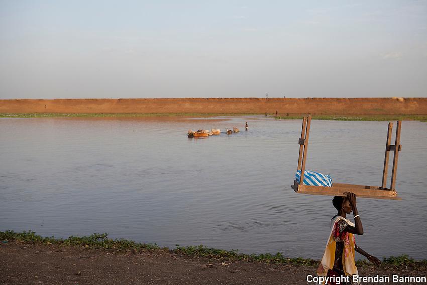 Sobat River scene, Nasir, South Sudan.