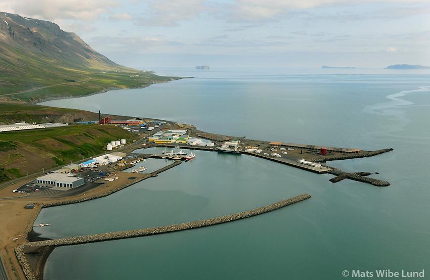 Sauðárkrókur séð til norðurs, Sveitarfelagið Skagafjarðar / Saudarkrokur viewing north, Sveitarfelagid Skagafjardar.
