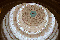 Lone Star Dome Interior of Texas' Capitol Building in Austin, Texas, USA