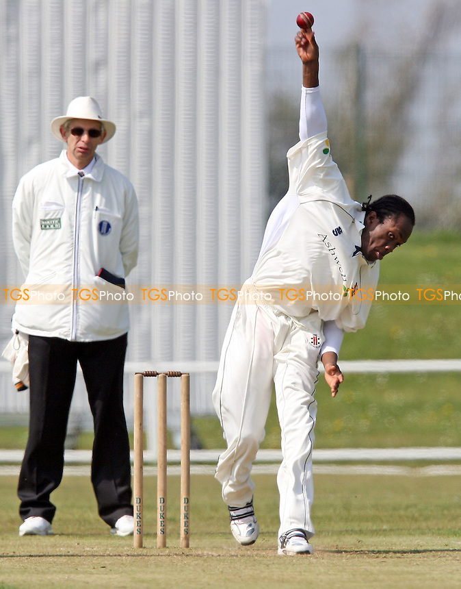 Maurice Chambers of Essex - Essex CCC 2nd XI vs Surrey CCC 2nd XI at Garon Park, Southend-on-Sea - 22/04/08 - MANDATORY CREDIT: Gavin Ellis/TGSPHOTO - Self billing applies where appropriate - Tel: 0845 094 6026