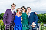 Enjoying the Colaiste na Sceilge Debutante Ball at Ballyroe Heights Hotel on Tuesday were l-r  Darren Curran, Orna Hanratty, Clare Sugrue and Michael Dineen.