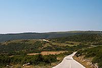 country road. Drama, Macedonia, Greece