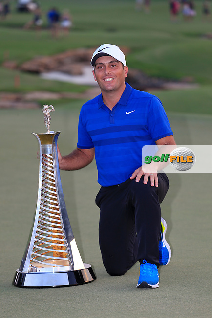 Francesco Molinari (ITA) winner of the Race to Dubai at the season ending DP World Tour Championship, Jumeirah Golf Estates, Dubai, United Arab Emirates. 18/11/2018<br /> Picture: Golffile | Fran Caffrey<br /> <br /> <br /> All photo usage must carry mandatory copyright credit (© Golffile | Fran Caffrey)