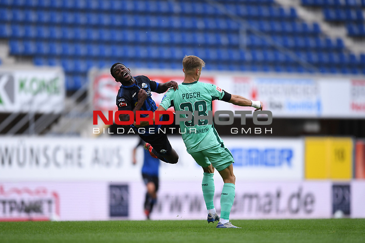 Foulspiel | Foul von Stefan Posch (TSG 1899 #38) an Christopher Antwi-Adjei (SC Paderborn #22)<br /><br />Foto: Edith Geuppert/GES /Pool / Rauch / nordphoto <br /><br />DFL regulations prohibit any use of photographs as image sequences and/or quasi-video.<br /><br />Editorial use only!<br /><br />National and international news-agencies out.