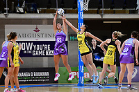 Stars&rsquo; Maia Wilson and Pulse&rsquo; Sulu Fitzpatrick in action during the ANZ Premiership - Pulse v Northern Stars at Te Rauparaha Arena, Porirua, New Zealand on Monday 25 June 2018.<br /> Photo by Masanori Udagawa. <br /> www.photowellington.photoshelter.com