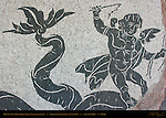Apprehensive Putti Thrown from Sea Monster Baths of Caracalla East Palaestra (Greek Wrestling Room) Mosaic Aventine Hill Rome