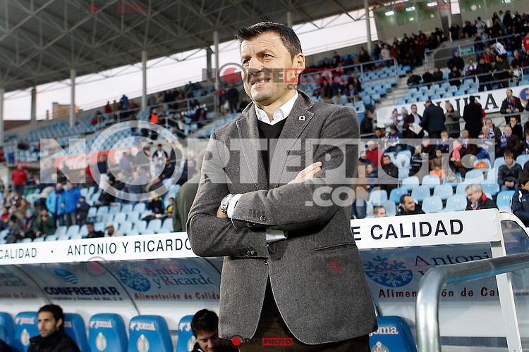 Real Valladolid's coach Miroslav Djukic during La Liga match.November 18,2012. (ALTERPHOTOS/Acero)