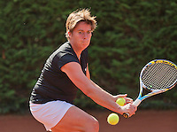 Netherlands, Amstelveen, August 22, 2015, Tennis,  National Veteran Championships, NVK, TV de Kegel,  Lady's  50+, Marceline Spaan<br /> Photo: Tennisimages/Henk Koster