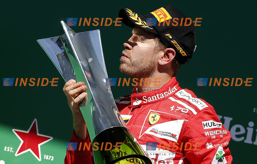 Sebastian Vettel celebrates his victory during the 2017 F1 Brazilian Grand Prix at the Interlagos Autodrome in Sao Paulo, SP, 12-11-2017 <br /> Foto Rodolfo Buhrer/FotoArena/Imago/Insidefoto