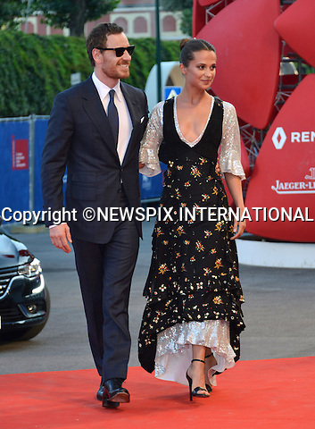 01.08.2016; Venice, Italy: ALICIA VIKANDER AND MICHAEL FASSBENDER<br /> atttend &ldquo;The Light Between Oceans&rdquo; screening at the 73rd Venice Film Festival.<br /> Mandatory Credit Photo: &copy;NEWSPIX INTERNATIONAL<br /> <br /> PHOTO CREDIT MANDATORY!!: NEWSPIX INTERNATIONAL(Failure to credit will incur a surcharge of 100% of reproduction fees)<br /> <br /> IMMEDIATE CONFIRMATION OF USAGE REQUIRED:<br /> Newspix International, 31 Chinnery Hill, Bishop's Stortford, ENGLAND CM23 3PS<br /> Tel:+441279 324672  ; Fax: +441279656877<br /> Mobile:  0777568 1153<br /> e-mail: info@newspixinternational.co.uk<br /> Please refer to usage terms. All Fees Payable To Newspix International