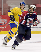 Tobias Viklund (MODO Hockey), Phil Kessel (University of Minnesota)  The US Blue team lost to Sweden 3-2 in a shootout as part of the 2005 Summer Hockey Challenge at the National Junior (U-20) Evaluation Camp in the 1980 rink at Lake Placid, NY on Saturday, August 13, 2005.