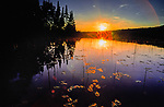 Summer sunset on English Lake in Northern Wisconsin.