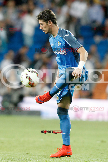 Getafe's Sergio Escudero during La Liga match. May 23,2015. (ALTERPHOTOS/Acero) /NortePhoto.com