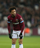 West Ham United's Felipe Anderson<br /> <br /> Photographer Rob Newell/CameraSport<br /> <br /> The Premier League - West Ham United v Cardiff City - Tuesday 4th December 2018 - London Stadium - London<br /> <br /> World Copyright © 2018 CameraSport. All rights reserved. 43 Linden Ave. Countesthorpe. Leicester. England. LE8 5PG - Tel: +44 (0) 116 277 4147 - admin@camerasport.com - www.camerasport.com
