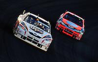 Mar 2, 2008; Las Vegas, NV, USA; NASCAR Sprint Cup Series driver Dale Jarrett (44) leads Jeff Burton during the UAW Dodge 400 at Las Vegas Motor Speedway. Mandatory Credit: Mark J. Rebilas-US PRESSWIRE