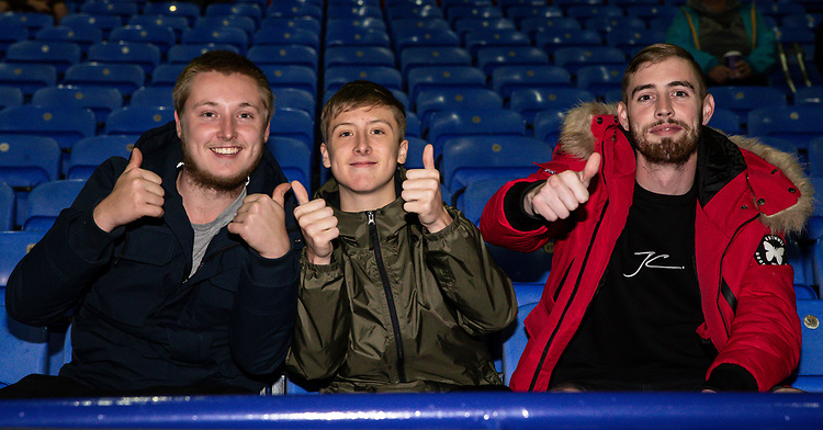 Bolton Wanderers' supporters enjoying the pre-match atmosphere <br /> <br /> Photographer Andrew Kearns/CameraSport<br /> <br /> The EFL Sky Bet League One - Bolton Wanderers v Blackpool - Monday 7th October 2019 - University of Bolton Stadium - Bolton<br /> <br /> World Copyright © 2019 CameraSport. All rights reserved. 43 Linden Ave. Countesthorpe. Leicester. England. LE8 5PG - Tel: +44 (0) 116 277 4147 - admin@camerasport.com - www.camerasport.com