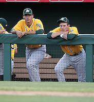 Matt Olson (L), Daniel Robertson (R) - 2012 AZL Athletics (Bill Mitchell)
