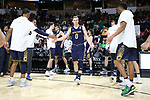 WINSTON-SALEM, NC - FEBRUARY 24: Notre Dame's Rex Pflueger (0). The Wake Forest University Demon Deacons hosted the University of Notre Dame Fighting Irish on February 24, 2018 at Lawrence Joel Veterans Memorial Coliseum in Winston-Salem, NC in a Division I men's college basketball game. Notre Dame won the game 76-71.