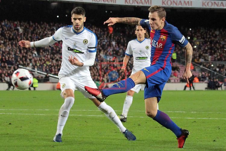 Copa del Rey 2016/2017. 1/16 Final-Vuelta.<br /> FC Barcelona vs Hercules CF: 7-0.<br /> 1-0: Lucas Digne.