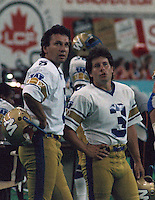 Bob Cameron and Trevor Kennerd Winnipeg Blue Bombers. Copyright photograph Scott Grant