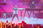 June 23, 2012, Chiba, Japan - Linkin Park performs on stage during the MTV Video Music Awards Japan event. (Photo by Christopher Jue/AFLO)