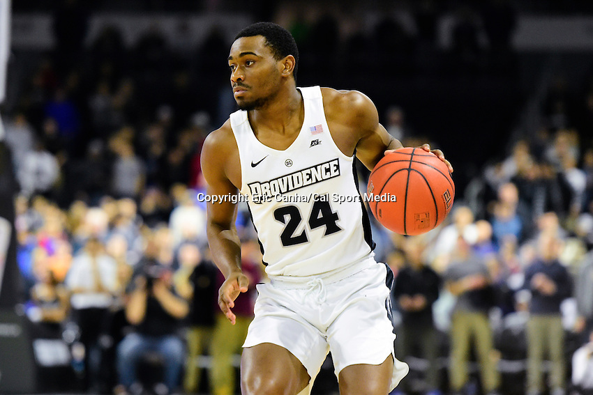 Wednesday, January 4, 2016: Providence Friars guard Kyron Cartwright (24) moves the ball down the court during the NCAA basketball game between the Georgetown Hoyas and the Providence Friars held at the Dunkin Donuts Center, in Providence, Rhode Island. Providence defeats Georgetown 76-70 in regulation time. Eric Canha/CSM