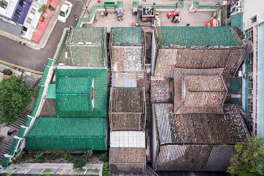 The Roof Of The Compound Buildings, Captured By A Drone.