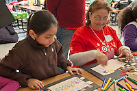 Chicago Public School students, and Target and Discover Card employees volunteer at Lloyd Elementary Chicago in Chicago for Chicago Cares MLK Celebration of Service day.  Over 3000 Target employees participated in service around Chicago