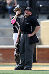 WAKE FOREST, NC - APRIL 15: Home plate umpire Steve Sanders. The Wake Forest Demon Deacons hosted the University of Notre Dame Fighting Irish on April 15, 2017, at David F. Couch Ballpark in Wake Forest, NC in a Division I College Baseball game. Wake Forest won the game 13-7.
