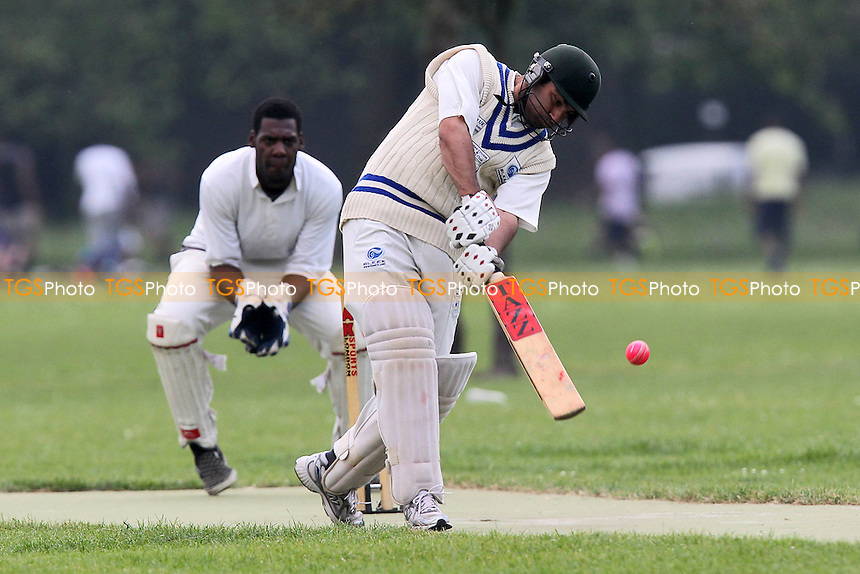 Dynamite Ducks CC (batting) vs Contenders CC - Victoria Park Community Cricket League at Victoria Park, London - 29/05/12 - MANDATORY CREDIT: Gavin Ellis/TGSPHOTO - Self billing applies where appropriate - 0845 094 6026 - contact@tgsphoto.co.uk - NO UNPAID USE.