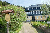 Germany, Thuringia, Stuetzerbach: village in Thuringia Forest, only 3 km far from Rennsteig Hiking Trail, the Goethe Museum | Deutschland, Thueringen, Stuetzerbach: im Tal der Lengwitz, am Nordosthang des Thueringer Waldes gelegen, nur etwa 3 km vom Rennsteig entfernt, das Goethe-Museum