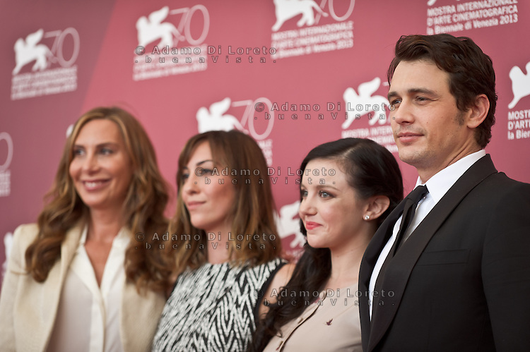 Jacqui Getty, Director Gia Coppola and Actor James Franco attends the 'Palo Alto' Photocall during the 70th Venice International Film Festival at the Palazzo del Casino on September 1, 2013. (Photo by Adamo Di Loreto/BuenaVista*photo)