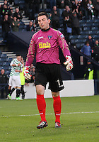 Ryan Goodfellow looking dejected in the Dunfermline Athletic v Celtic Scottish Football Association Youth Cup Final match played at Hampden Park, Glasgow on 1.5.13.