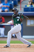 Daytona Tortugas right fielder Aristides Aquino (6) at bat during a game against the Brevard County Manatees on August 14, 2016 at Space Coast Stadium in Viera, Florida.  Daytona defeated Brevard County 9-3.  (Mike Janes/Four Seam Images)