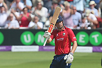 Alastair Cook celebrates scoring a century, 100 runs for Essex during Essex Eagles vs Notts Outlaws, Royal London One-Day Cup Semi-Final Cricket at The Cloudfm County Ground on 16th June 2017