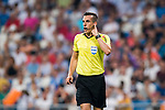 Referee Xavier Estrada Fernandez in action during the La Liga 2018-19 match between Real Madrid and Getafe CF at Estadio Santiago Bernabeu on August 19 2018 in Madrid, Spain. Photo by Diego Souto / Power Sport Images