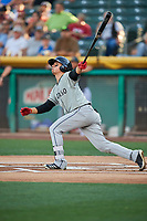 Luis Urias (3) of the El Paso Chihuahuas bats against the Salt Lake Bees at Smith's Ballpark on July 5, 2018 in Salt Lake City, Utah. El Paso defeated Salt Lake 3-2. (Stephen Smith/Four Seam Images)