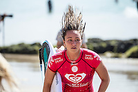 Snapper Rocks COOLANGATTA, Queensland/Australia (Friday, March6, 2015) Carissa Moore (HAW). - Round 3 and Round 4 were completed today in the  Roxy Pro Gold Coast. The event got underway today at 11.30 a.m. local time after being put on hold twice during the morning.<br /> <br /> Quarterfinalists were decided today at the Roxy Pro Gold Coast presented by BOQ, the opening stop on the Samsung Galaxy World Surf League (WSL) Championship Tour. The world&rsquo;s best battled through Rounds 3 and 4 in small, clean surf at Snapper Rocks and the field was narrowed down to just eight surfers.<br />  <br /> Silvana Lima (BRA) delivered the most dominant performance of the Roxy Pro to date, posting the first Perfect 10 of season in her heat against Sally Fitzgibbons (AUS). Despite a blistering start from the Australian with a near-perfect 9.63, the Brazilian unleashed her full repertoire on the Snapper Walls, using her air game and power turns to take her place in the Quarterfinals.<br /> <br /> Chevy Metal, the cover band formed more than a decade ago by Taylor Hawkins (Foo Fighters/The Birds of Satan), played a free show after competition wrapped up. <br /> Featuring Hawkins along with Wiley Hodgden (Bass/Vocals), Chris Shiflett (Guitar) and Rami Jaffee (Keys), Chevy Metal will ripped into some deep cuts off albums by Rolling Stones, Queen, The Police, Black Sabbath, Van Halen and more. Stephan Gilmore (AUS) and Andrew Stockdale (AUS) of Wolfmother famed joined  Chevy Metal on stage.<br /> -  Photo: joliphotos.com