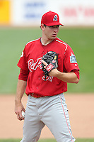 Reading Phillies starting pitcher Austin Hyatt #31 delivers a pitch during a game against the Erie Seawolves at Jerry Uht Park on May 29, 2011 in Erie, Pennsylvania.  Erie defeated Reading 6-5 in ten innings.  Photo By Mike Janes/Four Seam Images