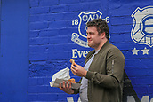 28th September 2017, Goodison Park, Liverpool, England; UEFA Europa League group stage, Everton versus Apollon Limassol; An Everton fan eating fish and chips before the game